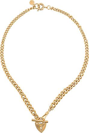 Gas Bijoux Colar com pingente de cadeado com coração trancado - Dourado