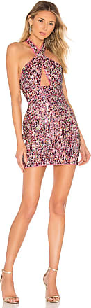 X by NBD Stormy Embellished Mini Dress in Pink