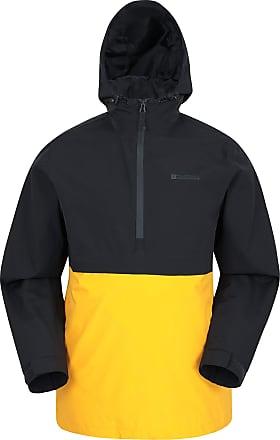 Hiking Travelling Detachable Hood Breathable Rain Jacket Outdoors Camping Taped Seams Mesh Lined- Best for Winter Mountain Warehouse Trek Mens Waterproof Jacket
