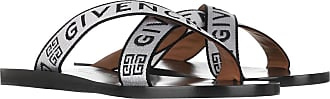Givenchy Sandals - Logo Strap Sandals White Black - white - Sandals for ladies