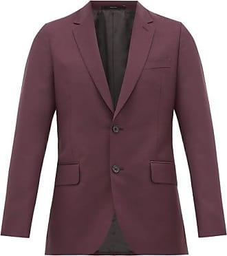 Paul Smith Soho-fit Wool-blend Crépe Suit Jacket - Mens - Purple
