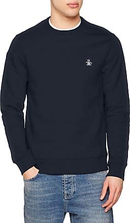 Original Penguin Mens Crew Neck Logo Sweatshirt, Blue (Dark Sapphire), Medium (Size: M)