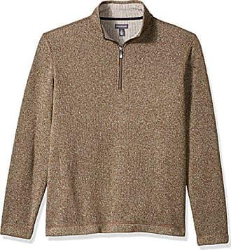 Van Heusen Mens Traveler Long Sleeve 1/4 Zip Solid Fleece, Bungee Cord, Large