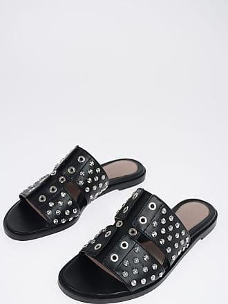 Alexander McQueen Leather Studded Sandals Größe 38,5