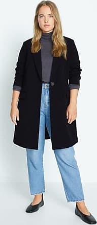 Violeta by Mango Lapelled straight-cut coat