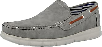 Cushion-Walk Mens Faux Leather Slip On Classic Boat Deck Casual Loafers Shoes Size 7-11 (UK 7/ EU 41, Grey)