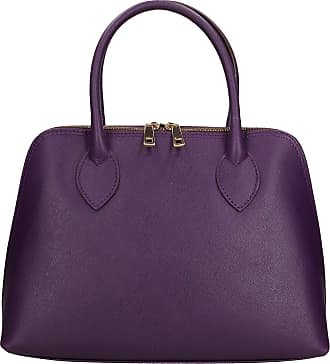 Chicca Borse Women Handbag in Leather Made in Italy 31x22x10 Cm
