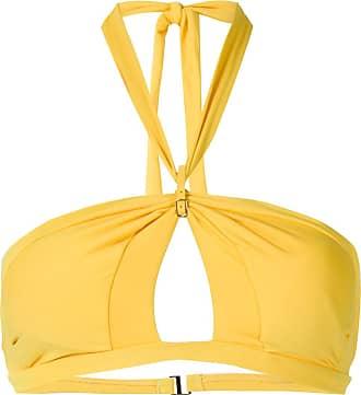 Amir Slama Bikini mit Cut-Outs - Gelb
