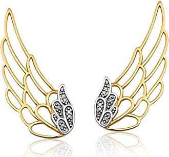 Coliseu Brinco de Ouro 18k de Asa com Diamantes