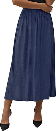 QIYUN.Z Womens Basic Plain Stretchy Ribbed Knit Split Full Length Skirt One Size One Size
