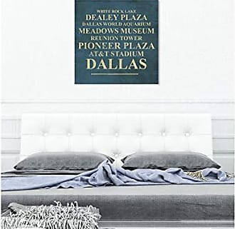 The Oliver Gal Artist Co. The Oliver Gal Artist Co. Cities and Skylines Wall Art Canvas Prints Dallas Landmarks Home Décor, 36 x 36, Green, Gold