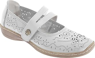Boulevard Womens Ladies Genuine Leather Mary Jane Touch Fastening Slip On Casual Summer Sandals Pumps Shoes UK 4-8