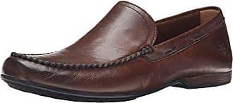 Frye Mens Lewis Venetian, Dark Brown Soft Vintage Leather-80259, 10.5 M US