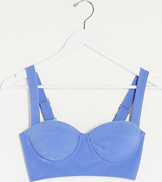 4th & Reckless bra top with buckles in blue