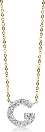 Sif Jakobs Jewellery Necklace Novoli G - 18k gold plated with white zirconia