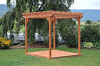 A & L Furniture A & L Furniture 706C-OAK Stain Pergola with Deck & Swing Hangers, Oak Stain