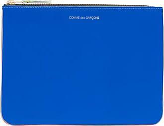 Comme Des Garçons Comme Des Garçons Wallet - Colour-block Leather Pouch - Womens - Blue Multi
