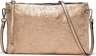 Gianni Chiarini hermy laminato large bronze clutch bag