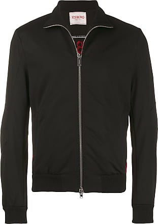 Iceberg embroidered logo zipped jacket - Black