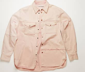 Acne Studios BK-UX-SHIR000012 Dusty pink Recrafted denim overshirt