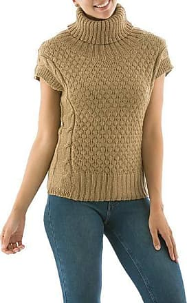Novica Alpaca blend short-sleeve sweater, Icas Coquette