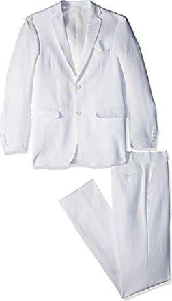 U.S.Polo Association Mens Linen Suit, White, 46 Short
