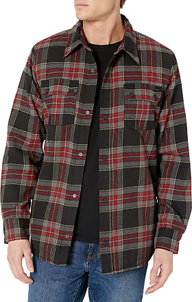 Volcom Mens Sherpa Flannel Snow Jacket - red - Large