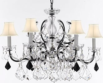 Gallery T22-2769 6 Light 26 Wide Crystal Chandelier with Fabric