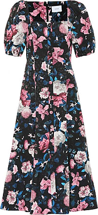 Erdem Mariona floral cotton-blend dress