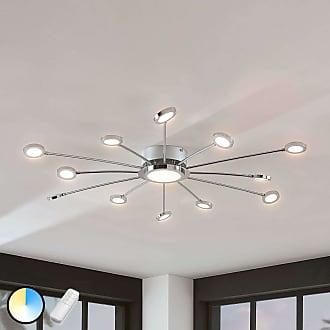Lindby Lámpara LED de techo Meru brillante, mando a dist