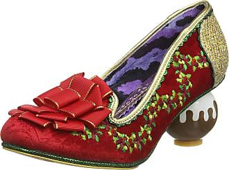 Irregular Choice Womens Love Pudding Closed Toe Heels, Red (Red/Green A), 6.5 (40 EU)