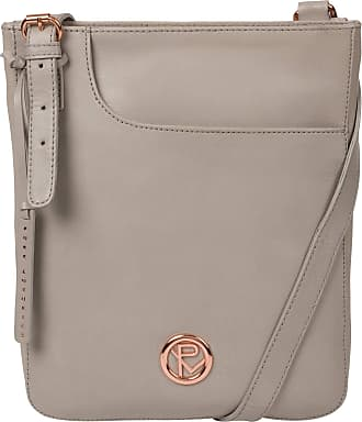 Pure Luxuries London Pure Luxuries London Kahlo Womens 22cm Biodegradable Leather Cross Body Bag wth Rose Gold Metal Fittings, Zip Over Top, 100% Cotton Lining and Adjusta