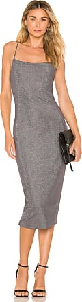 Privacy Please Sebastian Midi Dress in Metallic Gray