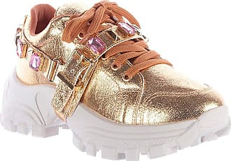 Damannu Shoes Tênis Chunky Mimi Dourado - Cor: Dourado - Tamanho: 36