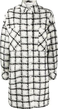 Iro plaid print coat - White