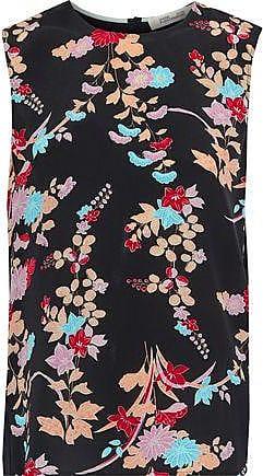 Diane Von Fürstenberg Diane Von Furstenberg Woman Printed Silk Top Black Size XS