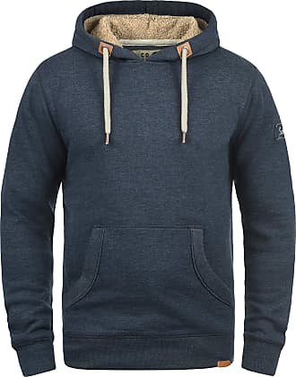 Solid TripHood Pile Mens Hoodie Hooded Sweatshirt Jumper with Teddy Fleece with Hood, Size:L, Colour:INS BLU M (P8991)