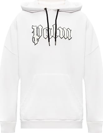 Palm Angels Logo Hoodie Mens White