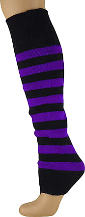 MySocks Leg Warmers Striped Purple Black
