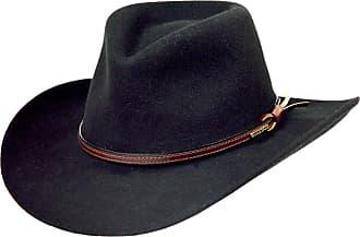 1a50d49c2b540 Stetson Mens Bozeman Wool Felt Crushable Cowboy Hat Black Medium