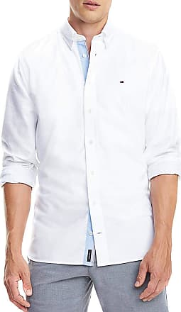 687cae17661c Tommy Hilfiger Mens Casual Shirt - White - X-Large