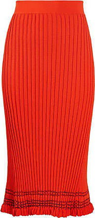 Altuzarra Gwendolyn Ribbed-knit Midi Skirt - Womens - Orange