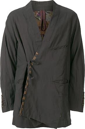 Ziggy Chen wrap front jacket - Blue