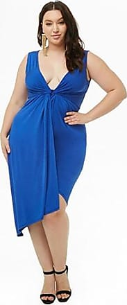 Forever 21 Plus Forever 21 Plus Size Twist-Front Tulip Dress Royal