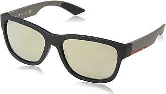 eb6f5649ba Prada Sport Mens 0Ps03Qs Dg01C0 57 Sunglasses, Black Rubber /Lightbrownmirrorgold