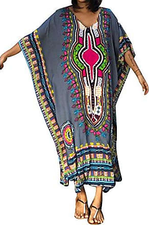 Damen Maxikleid Sommer Kleid Freizeitkleid Strandkleid Locker Kaftan Übergröße