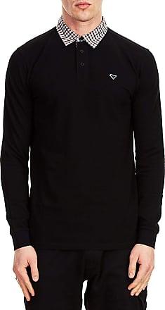 Weekend Offender Bentvena Long Sleeve Polo Shirt, Black, M
