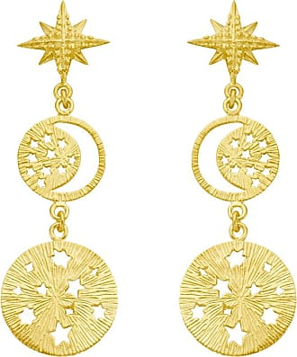 Zoe & Morgan Goldene Tara-Ohrringe - Gold