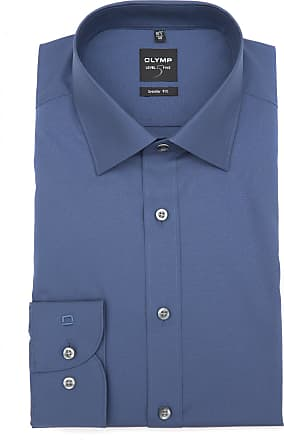Olymp Olymp Level Five Body Fit Shirt - Smoke Blue, Collar Size 41