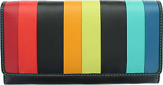 Visconti Santorini Collection KOS Leather Purse With RFID Protection STR4 Black Multi